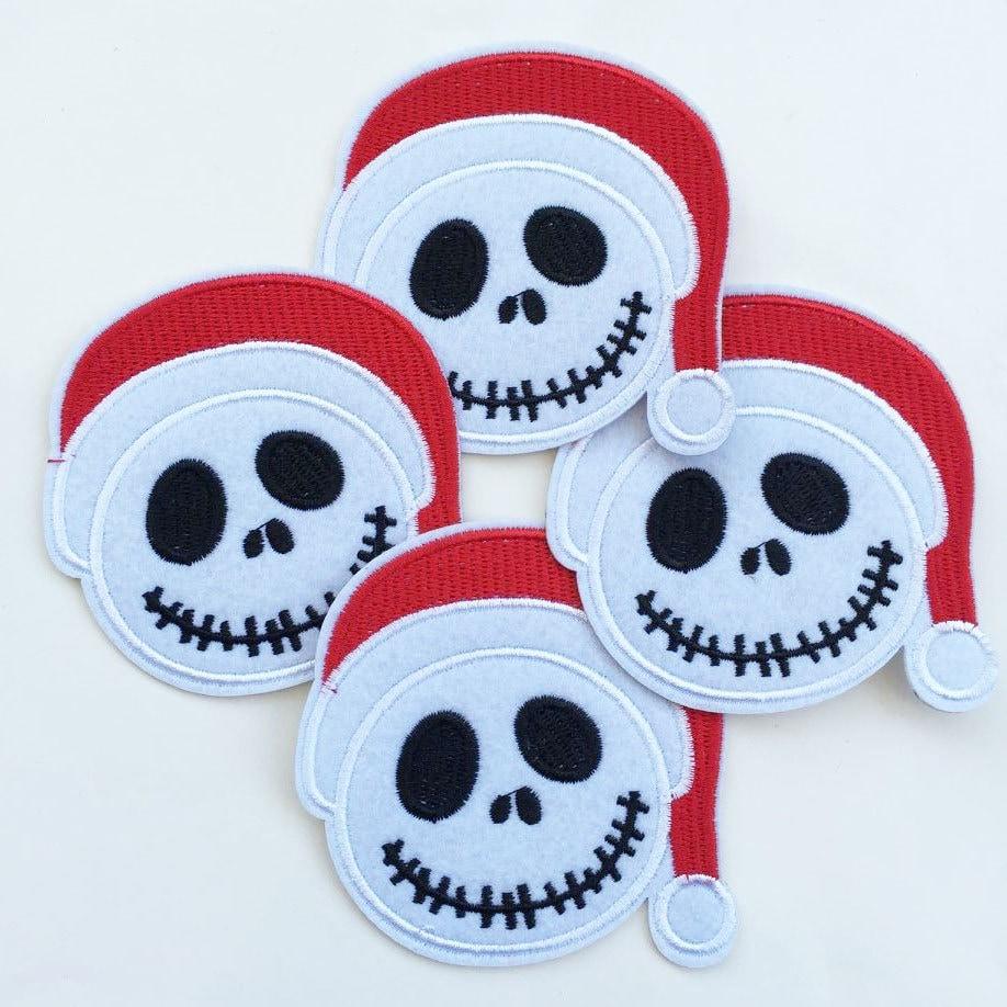 7.5x7.5cm 10pcs Christmas Jack Skellington Santa hat The | Etsy