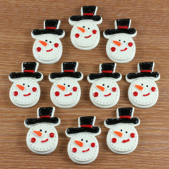 10 50 100pcs Snow Man with Black Hat X mas Christmas Resin  57e88d558505