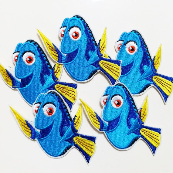 "AWESOME DISNEY/'S FINDING NEMO /""DORY/"" 3 1//2/"" EMBROIDERED LOVELY PATCH"