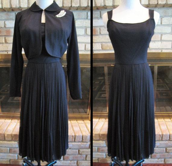 Pat Premo California 1950s - '60s Black Dress with