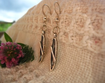 Canoe Earrings: sterling silver canoe charms on fish hook wires