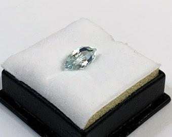 1.63 Crats Natural Aquamarine, Marquis Cut Loose Gemstone, 11.9 X 6 mm. Fine Quality Gem
