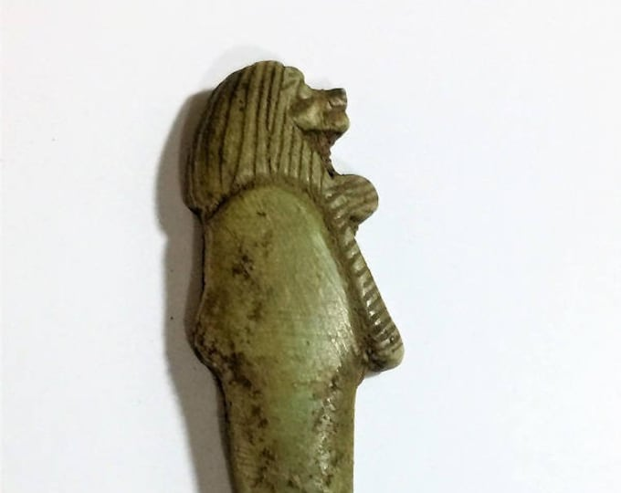 Vintage Ancient Egyptian Faience  Amulet, God Thoth as a Baboon, Amarna Valley, Upper Egypt, 47 mm. Rare Unusual Amulet
