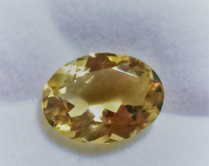 7.21 carats Natural Golden Citrine, Oval Fancy Cut Loose Gemstone, Brillian Color, 16.30 X 12 mm, Brazil