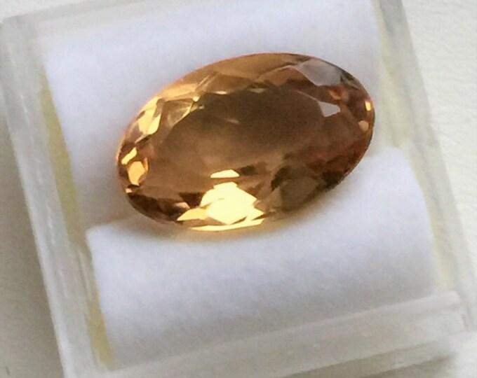 Natural Golden Beryl, Oval Cut Loose Gemstone, 8.12 carats, 5.80 X 10.30 mm, VVS Clarity