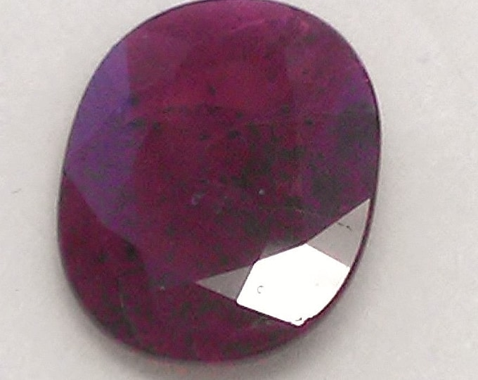 Genuine Natural Ruby, Deep Red, Oval Cut Loose Gemstone 11.22 x 8.90 mm, 3.02 carats.