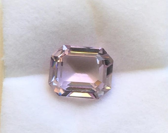 Natural Pink Kunzite, Emerald Cut Loose Gemstone. 5.73 carats, Excellent Cut and Color. Great Price