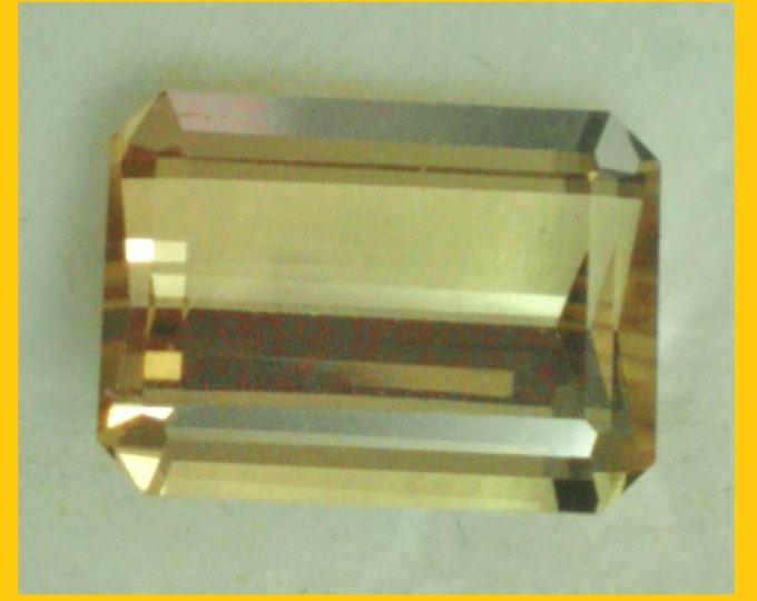 Genuine Natural Canary TOURMALINE, Emerald Cut Loose Gemstone 9 x 6.7 mm, 2.17 carats. (Price reduced 15%)