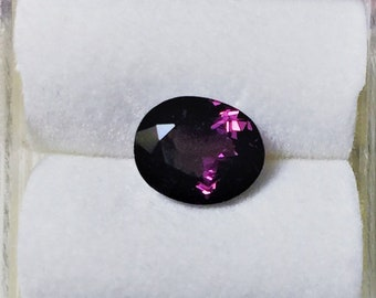 Natural Purple Spinel from Sri Lanka. Oval Cut 7.9 X 6.45 mm. 1.46 cts. Untreated Gemstone with Great luster