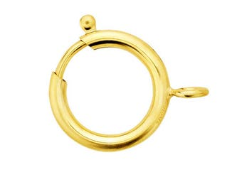 Gold Filled 1/20 12 Karat large Sport Ring Clasp (Spring Clasp), 18 mm. Made in USA