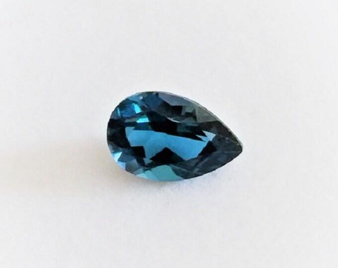 Natural Fine London Blue Topaz, Grade AAA, PearShape Loose Gemstone 9.5 X 6.4 X 4.5 mm, 1.90 carats.