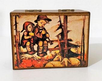 "Vintage Collectible Linden Hummel Children 72 Notes Music Box, Plays 2 Tunes "" Love Story, Sunrise Sunset"". 5 3/4"" L X 4 1/2"" W. Japan"