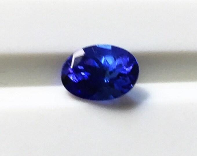 Genuine Natural Fine Quality Tanzanite Oval Full Cut Loose Gemstone, Dark Blue/ Violet AAA COLOR, 7.30 X 5.25 mm, .96 carat.