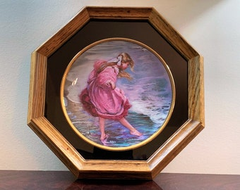 Heart of a Child By Alan Murray collectors Plate, Signed on Front and Rare Full Signature On The Back, Custom Wood Frame, No. 18515-1982
