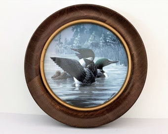 """Early Start, The Only Limited Edition 1991 Collectible Plate By Don Li Leger. No. 233A. 8.5"""" Diam. 10"""" Custom Wood Frame. Free US Shipping"""