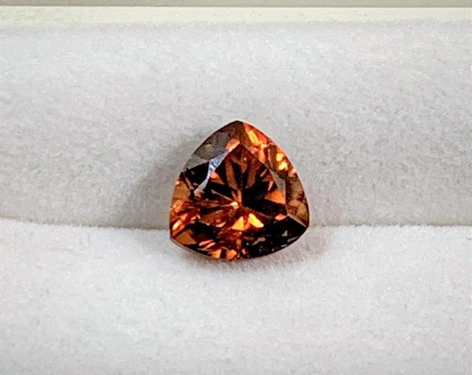 Natural Zircon Gemstone, Cognac Orange Color, 2.25 Carats, 7.20 - 7. mm, VVS Grade, Tanzania - Africa