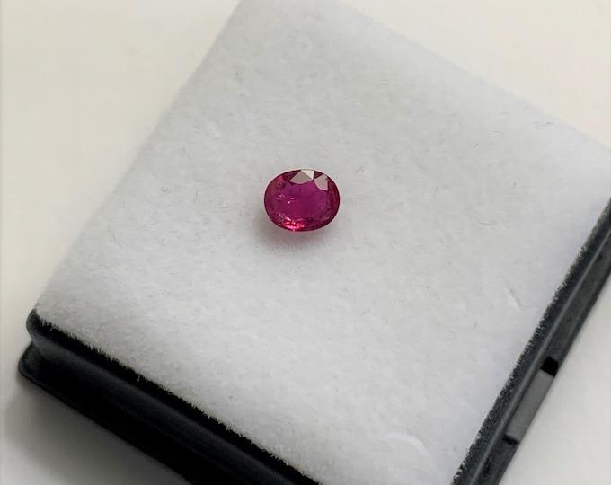Natural Fine Ruby, Deep Red , Burma, Grade AAA, Oval Cut Loose Gemstone 5.30 x 4.35 x 2.60 mm, .62 carat.