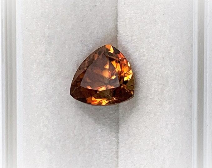 Natural Zircon Gemstone, Cognac Orange Color, 2.35 Carats, 7.20 - 7.30 mm, VVS Grade, Tanzania - Africa
