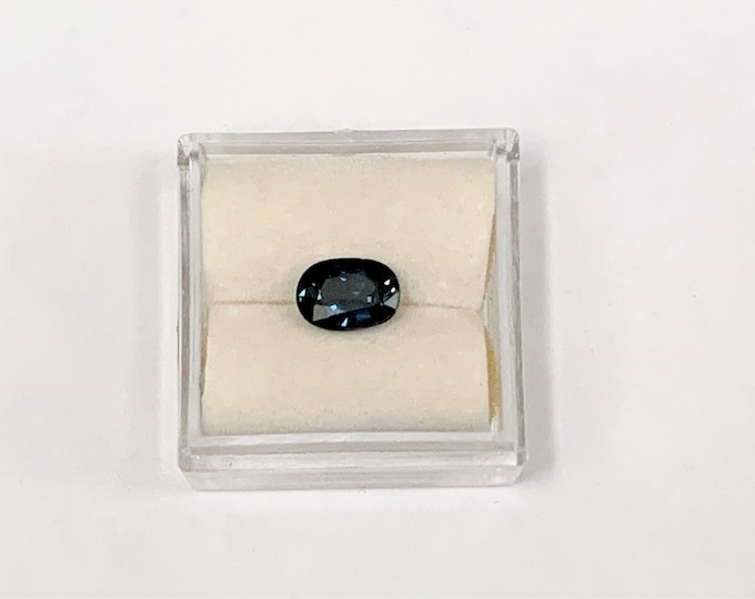 Fine Natural Blue Sapphire, Deep Blue, Oval Cut 1.25 carats, 7.50 X 5.90 mm, Excellent Color and Luster. Kashmir