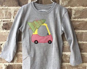 Boys Christmas Cozy Coupe Shirt