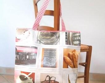 Tote bag, canvas, Interior zip pocket, weekend, gingham