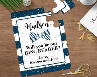 Will You Be My Ring Bearer, Ring Bearer Puzzle, Ring Bearer Proposal, Ask Ring Bearer, Ring Security, Page Boy Proposal Wedding Party Invite