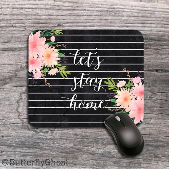 Cytat Podkładka Pod Mysz Kwiatowy Tablica Custom Cytaty Mause Mat Akwarela Flower Pozwala Na Pobyt W Domu Office Decor Gift 313