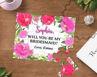 Will you be my bridesmaid, Bridesmaid Puzzle Proposal, Bridesmaid invitation, Ask Bridesmaid , Will You Be our Flower girl,  Maid of Honor