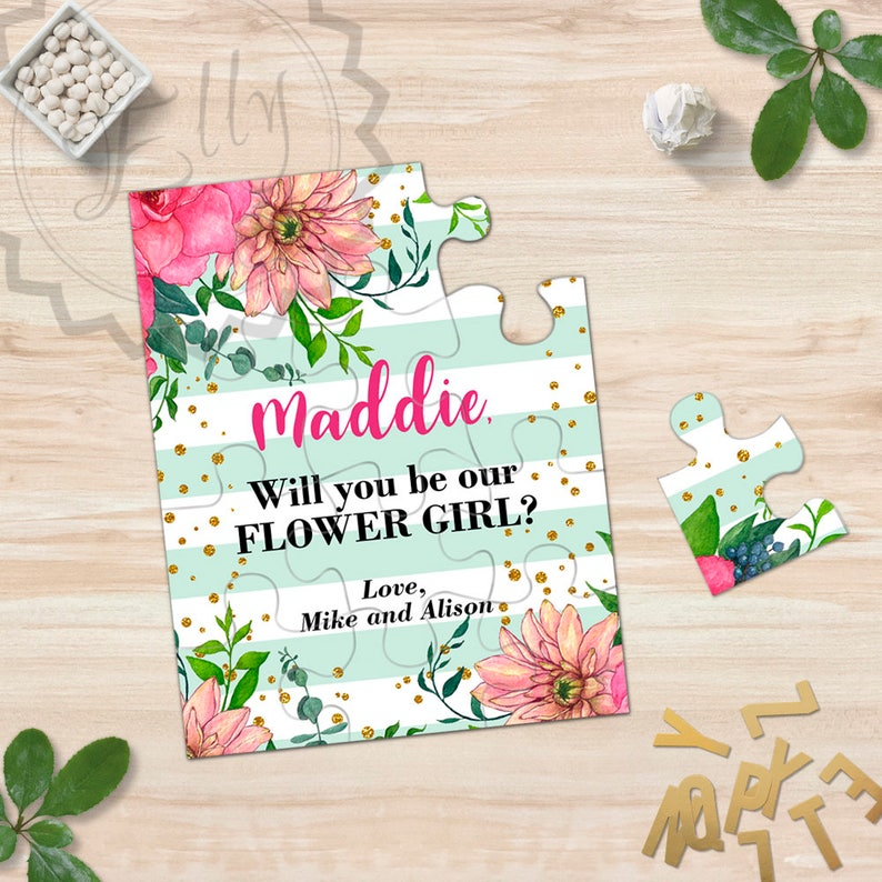 Will You Be My Flower Girl Puzzle Will You Be My Bridesmaid image 0