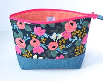 1b76eb2a5c2b Travel cosmetic bag | Etsy