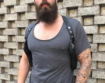 "Double sided revolverbag ""LUCA"" halterbag double holster bag gun holster shoulder bag man double sided urbag festival travel bag"