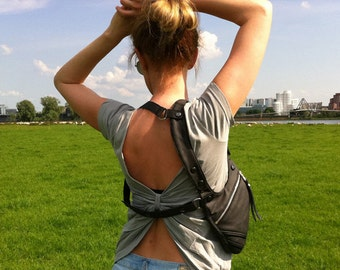 """Revolverbag shoulder holster bag leather halter """"Tiara"""""""