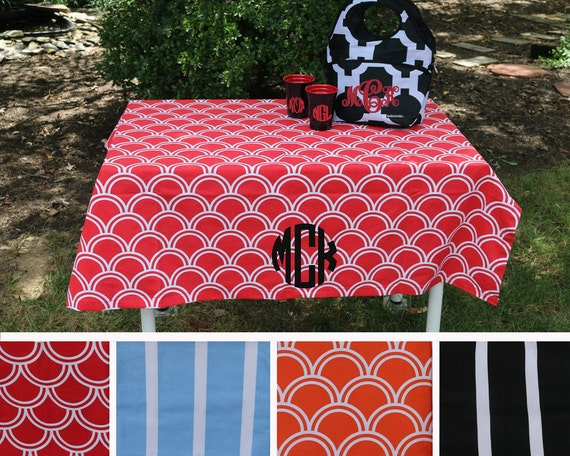 personalized table cloth tailgating table cloth college etsy rh etsy com personalised table cover uk personalised table cloth cheap