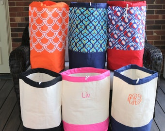 Monogrammed Laundry Bag, Camp Laundry Bag, Laundry Hamper, Personalized Laundry Hamper, Monogrammed Camp Laundry Bag, Graduation Gift