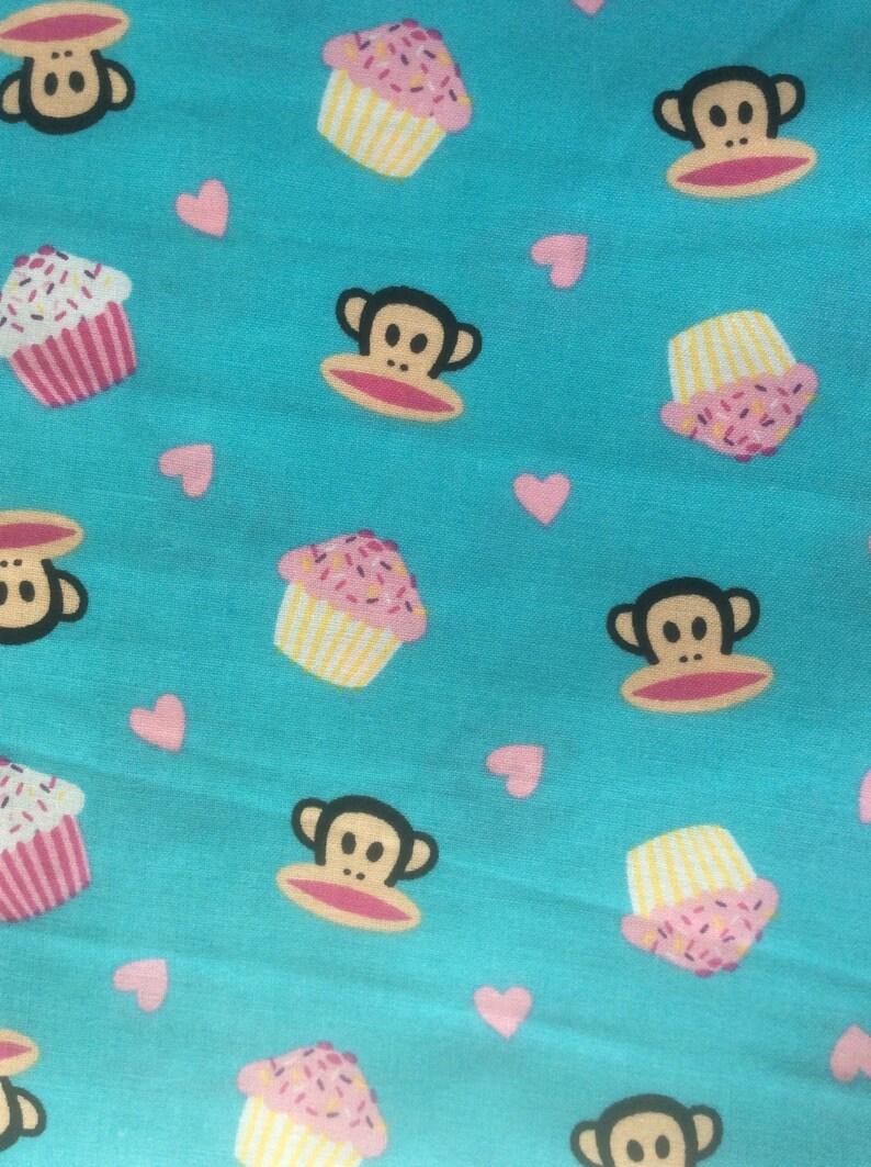 Paul Frank Industries Monkeys In Love On Turquoise Etsy