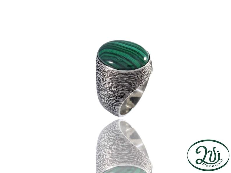 f711ccc8b9 Statement Jewelry. Anello con malachite. Anello donna. Anello | Etsy