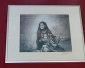 Vintage (1990) Signed and Framed Black White 39 Mother and Child 39 Photograph