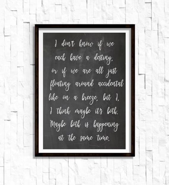 Forrest Gump Quote Print Poster Quote About Life Etsy Inspiration Life Quote Poster