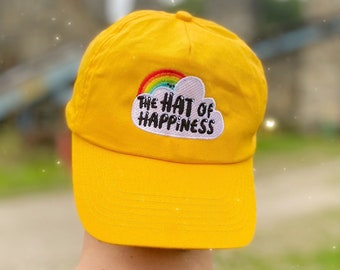 The Hat of Happiness - YELLOW - Positivity Cap - Katie Abey
