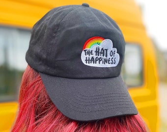 The Hat of Happiness - BLACK - Positivity Cap - Katie Abey
