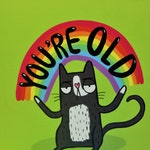 You're Old Birthday card- Humorous Greeting Card  - Greeting Card - Humour - Humor - Katie Abey