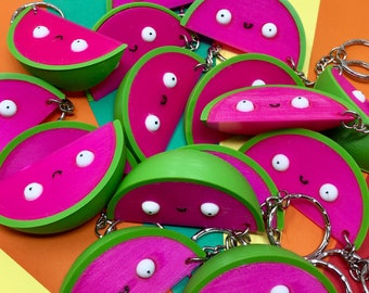 Melon Of Motivation Keyring - positivity gift - 3D printed - Keychain - Melon Gift