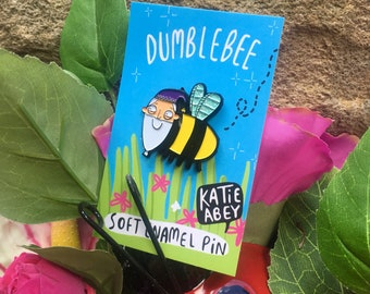 Dumblebee Enamel Pin - Soft Enamel Pin -dumbledore Pin - Katie Abey