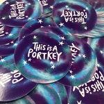 This Is A Portkey VINYL Sticker - 8cm Circle Sticker - Katie Abey