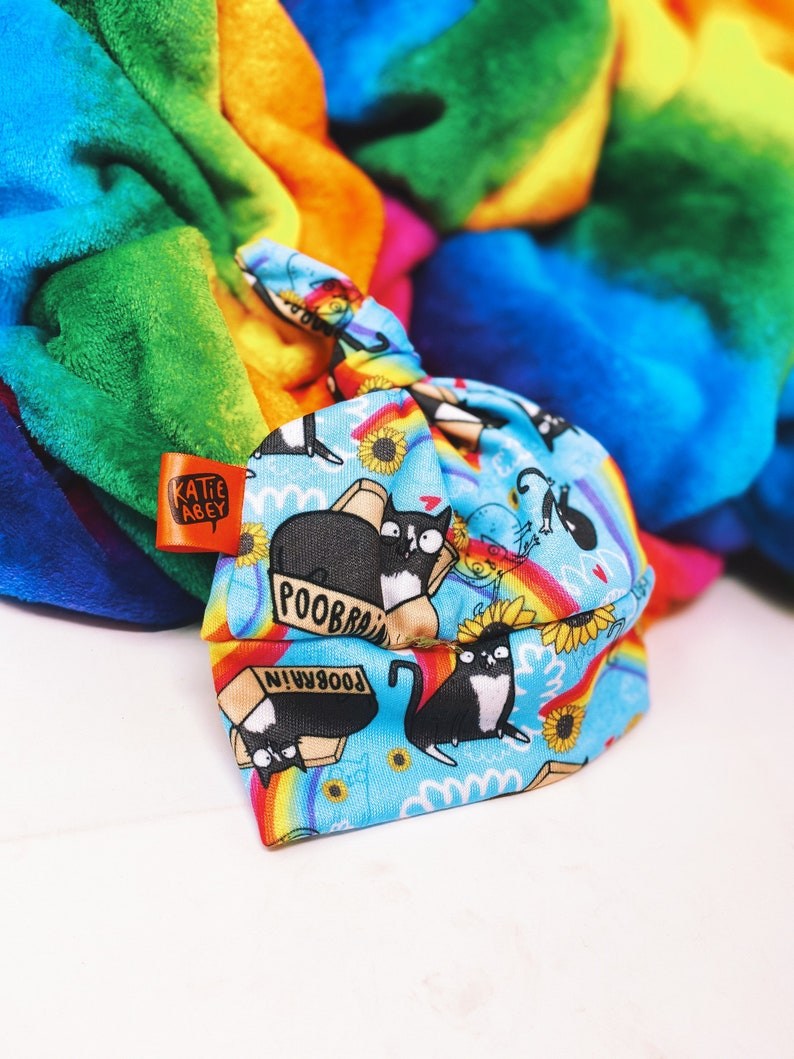 Rainbow Baby Hat  Cat Baby Hat  Handmade  Made In The UK  image 0