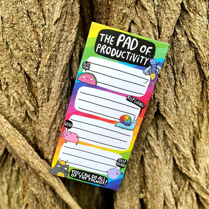 The Pad of Productivity  To Do List  Rainbow Pad  image 0
