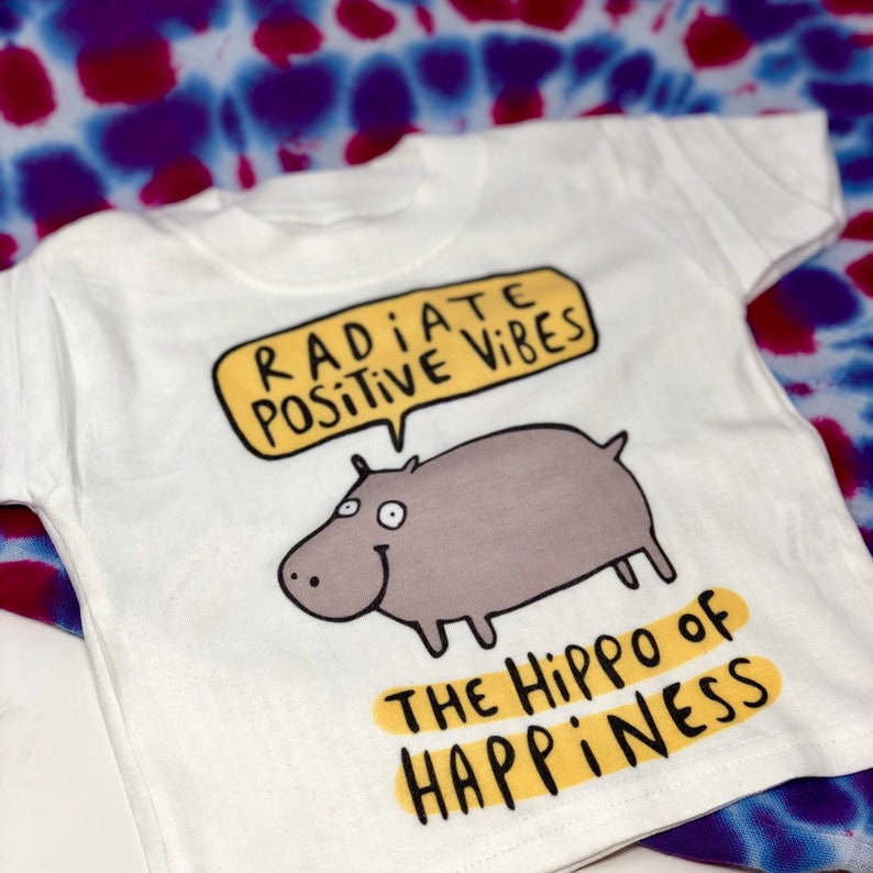 Hippo Of Happiness  Babygrow  Childrens Tee  Sublimation image 0