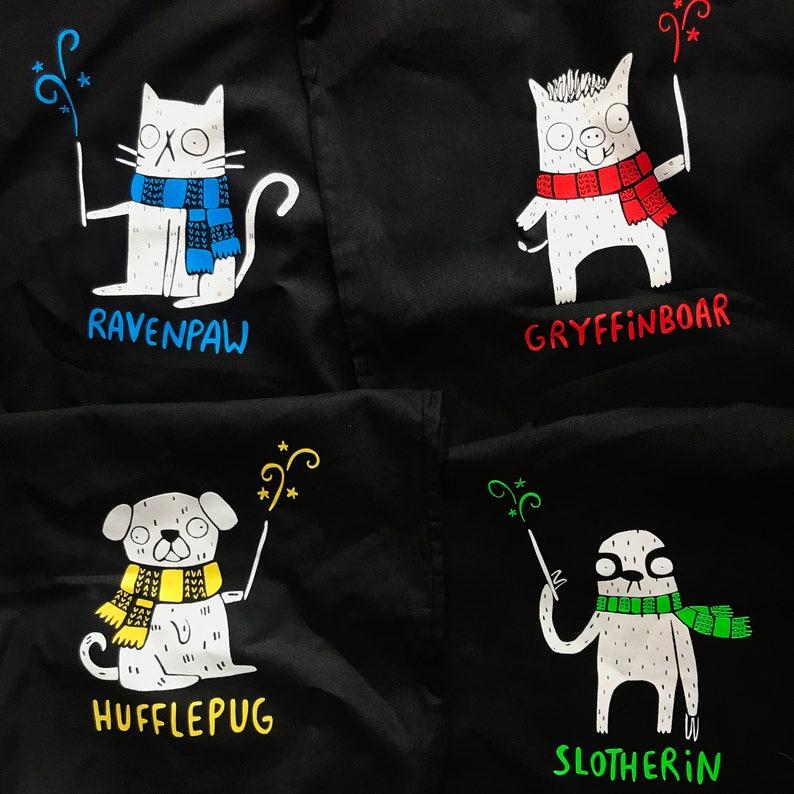 Hufflepuff Gift Made in UK Hufflepug Tote Bag Illustrated Screen Printed Tote Bag Hufflepuff Bag Pug Tote