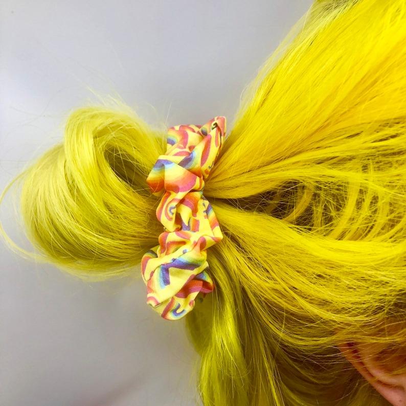 Hair Scrunchie  Katie Abey Exclusive Fabric  Hair Band  Rainbow
