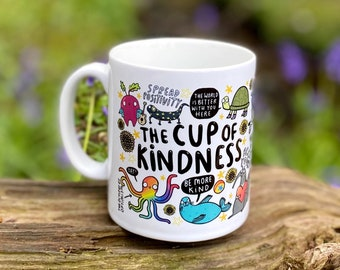 The Cup of Kindness - Mental Health - Anxiety - Self Care - Katie Abey - Positivity - Mug